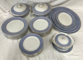 """A Solian Ware """"Basket"""" 44 piece dinner service to include: 2 x tureens 29cms, 12 x dinner plates"""