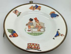 An early 2othc child's nursery warming plate 20cms d.Condition ReportScratches to surface and