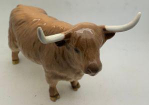 A Beswick cattle highland cow in original box.Condition ReportGood condition.