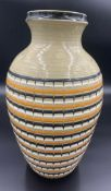 A 1970's Hornsea Pottery vase 31.5cms h designed by John Clappison with impressed and printed mark.