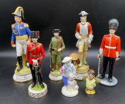 "A selection of ceramics to include Royal Doulton HN 2784 ""The Guardsman"" 25cms, Coalport ""My Pal"""