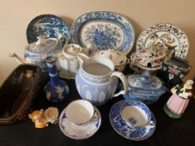 A quantity of 18thc, 19thc and 20thc ceramics to include Shelley, Spode, Wedgwood etcCondition