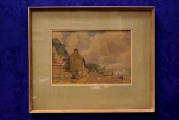 """BASIL SPACKMAN (1895-1971) """"LOWER GLANMIRE ROAD"""", watercolour on paper, signed lower right, Dawson"""
