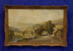 "JOHN FAULKNER RHA (1835-1894), ""A PASTORAL COUNTRYSIDE SCENE"", watercolour, signed and dated 'John"