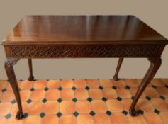 A LATE 19TH / EARLY 20TH CENTURY IRISH SIDE TABLE, with single fr