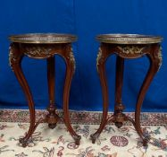 A GOOD QUALITY PAIR OF VICTORIAN MAHOGANY JARDINIÉRE STANDS, eac