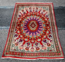 A MID 20TH CENTURY WONDERFUL AND FINE HAND MADE PERSIAN RUG FROM THE ANCIENT CITY OF TABRIZ, with