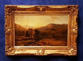 GEORGE SHALDERS (1826 – 1871) 'GLENGARRIFF', oil on canvas, signed lower centre, dated 58 (1858),
