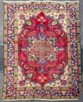 A VERY FINE RARE HAND MADE ANTIQUE PERSIAN TABRIZ CARPET, woven in Eastern Azeraijan region of Iran,
