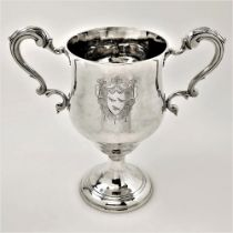 A LATE 18TH CENTURY IRISH SILVER TWO HANDLED CUP, Dublin, 1793 by Joseph Jackson. Jackson came from