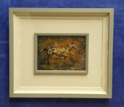 CON CAMPBELL, GALLOPING HORSE, oil on board, signed upper left, 69 x 59.5cm approx frame, 33 x 23cm
