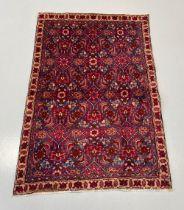 A PERSIAN TABRIZ CARPET, hand woven in Maragha, Azerbaijan Province, Iran c.1950. Material: hand spu