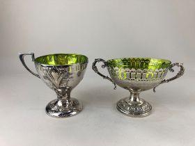 An Art Nouveau silver plated cup, maker WMF