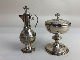 An Elizabeth II silver communion chalice with cover, maker A R Mowbray & Co Ltd, London 2002,