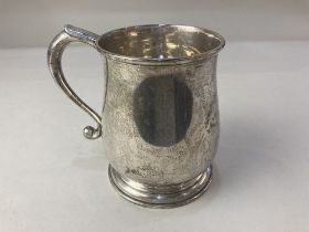 An Elizabeth II silver tankard, maker Wakely & Wheeler, London 1956, presented 'Forest Department