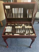 An Arthur Price Sheffield silver plated part canteen, comprising eight of most pieces, together with