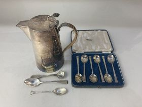A cased set of six Elizabeth II silver coffee spoons, makers Cooper Brothers & Sons Ltd,Sheffield