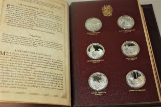 John Pinches silver Churchill medallions part collection of seventeen medallions representing events