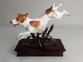 An Albany Fine China limited edition porcelain and metal model of a Jack Russell Terrier modelled by