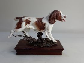 An Albany Fine China limited edition porcelain and metal model of a Springer Spaniel modelled by