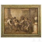 Ölstudie von Gaspare Diziani (1689-1767) - Die Ermordung Caesars
