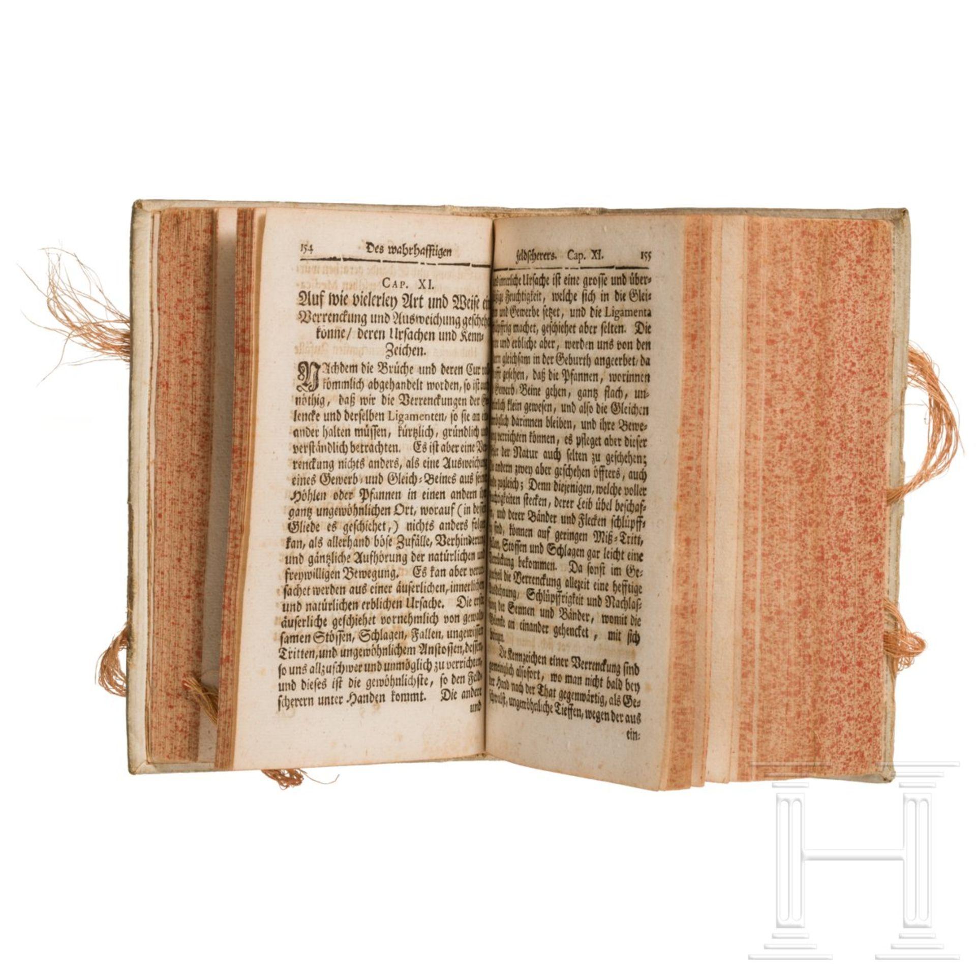 """Purmann, Matthäus G. – """"Der rechte und wahrhafftige Feldscherer"""", Frankfurt, 1721 - Image 3 of 5"""