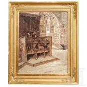 "Frans Wilhelm Odelmark – ""Innenansicht der Basilika St. Francesco in Assisi"""