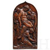 Buchsbaumrelief mit Darstellung der Beweinung Christi, Lothringen, Ende 16. Jhdt.