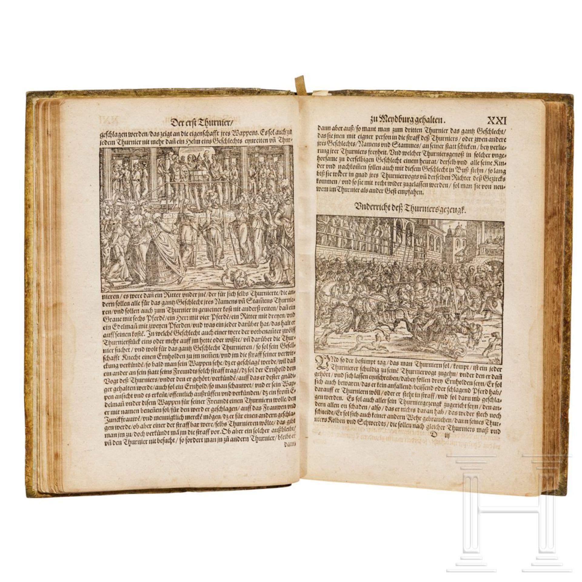 """Heinrich Rüxner - """"Thurnierbuch"""", Frankfurt am Main, 1566 - Bild 3 aus 7"""