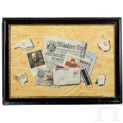 Trompe-l'oeil mit Briefen und Zeitung aus dem 1. Weltkrieg, München, 1916