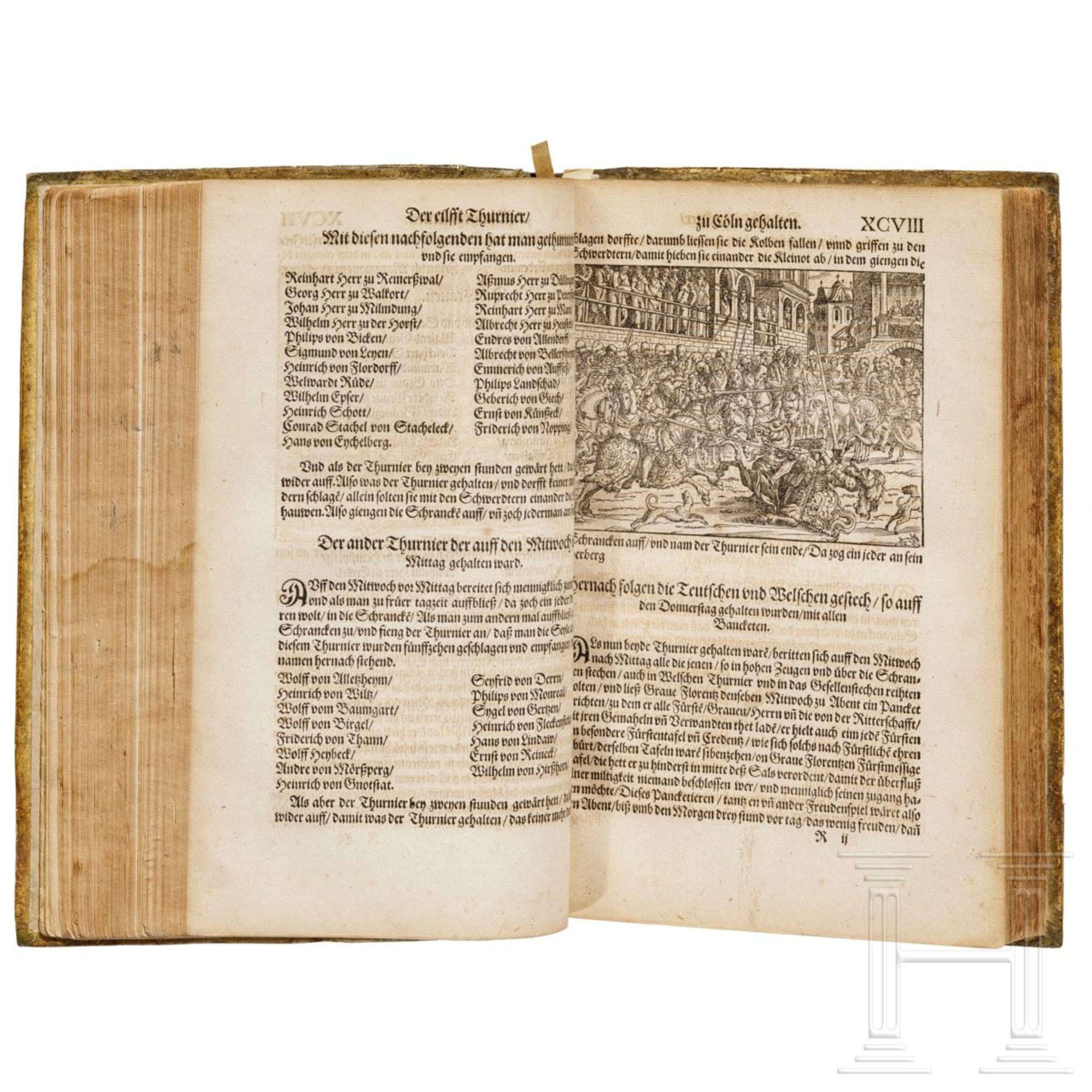 """Heinrich Rüxner - """"Thurnierbuch"""", Frankfurt am Main, 1566 - Bild 4 aus 7"""