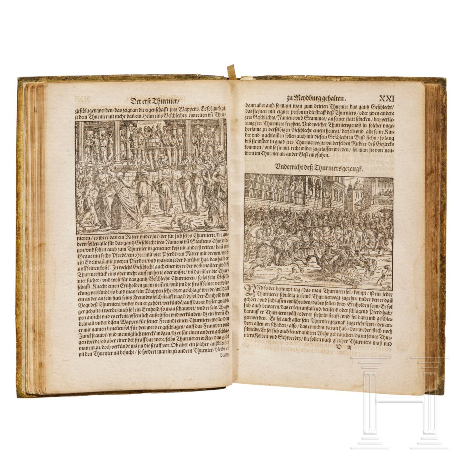 """Heinrich Rüxner - """"Thurnierbuch"""", Frankfurt am Main, 1566 - Bild 2 aus 7"""