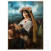 Portrait einer Sizilianerin, Mitte 19. Jhdt.