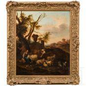 Carree Michael (1657-1727) – idyllische Landschaft mit Bauern und Vieh