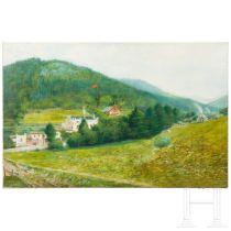 "Gemälde ""Schweizer Berglandschaft"", datiert 1895"