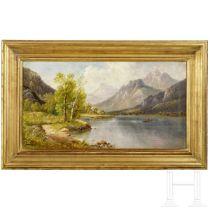 """B. Lambert (1843 - 1902/05) - Gemälde """"Am Grundlsee"""""""
