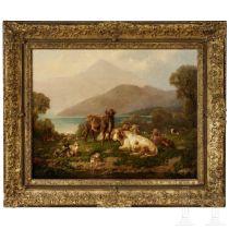 """Louis (Ludwig) Reinhardt, """"Kühe am Bergsee"""", um 1870"""