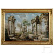 Gemälde einer antiken Ruinenlandschaft, Italien, 19./20. Jhdt.