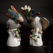"Ein Paar Porzellanfiguren, ""Kakadus"", Nymphenburg, 20. Jhdt."