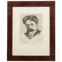John Philipp - signiertes Bildnis des Dirigenten Arthur Nikisch