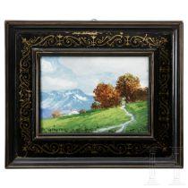 """Fritz Splittgerber (1874-1914), Gouache """"Alpine Landschaft"""""""