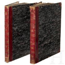 """""""Les monuments de la France"""" in 2 Bänden, Alexandre de Laborde, Paris, 1816/1836"""