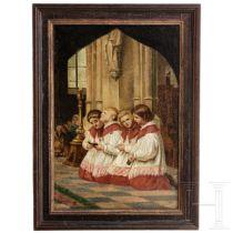 Ministranten beim Gebet, Gemälde, um 1900