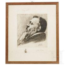 John Phillipp - Auguste Rodin im Profil nach links, 1909