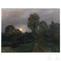 Parklandschaft im Mondschein, Ch. Leitner, datiert 1914