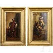 Zwei Historismus-Portraits adliger Herren des 17. Jhdts.