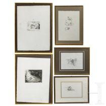 Max Slevogt (1868 - 1932) - Fünf Grafiken