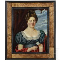 Portrait einer Dame, deutsch, datiert 1845
