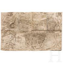 Großer Vogelschauplan der Stadt Augsburg, Wolfgang Kilian (1581-1662), datiert 1662