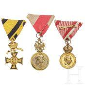 Drei österreichische Militärmedaillen